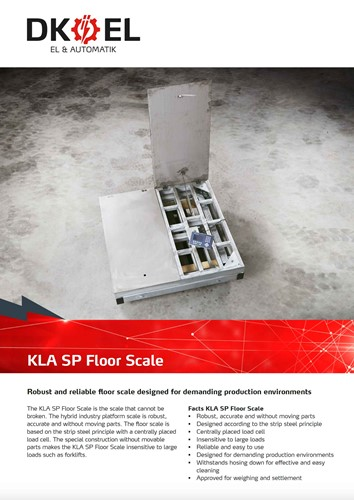 Download KLA SP Floor Scale Data Sheet
